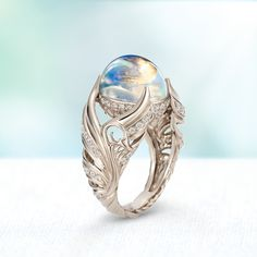 Wings Crystal Moonstone Ball Women's Rings Ring Jewelry Gifts for Her – thenor. Wings Crystal Moonstone Ball Women's Rings Ring Jewelry Gifts for Her – thenordictradingc… Jewelry Party, Wedding Jewelry, Jewelry Gifts, Jewelry Accessories, Fine Jewelry, Jewelry Design, Unique Jewelry, Swan Jewelry, Dragon Jewelry