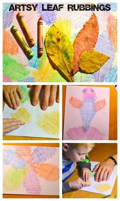 This art and science project seems like it would be fun for all ages and they would get to learn about the texture, color, and shape of the leaves. You could even integrate teaching primary and secondary colors if you wanted or you could let them use whatever color they wanted.