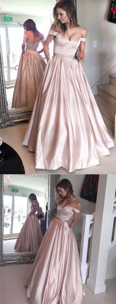 Beautiful Prom Dress, off shoulder ball gown pearl pink long prom evening dress prom prom dress prom dresses prom gown prom gowns long prom dress Meet Dresses Prom Dresses Long Pink, Prom Dresses With Pockets, Prom Dresses 2017, A Line Prom Dresses, Cheap Prom Dresses, Prom Party Dresses, Ball Dresses, Pageant Dresses, Dresses Dresses