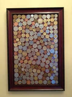 Great way to display all my coins from traveling in Europe!
