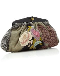 Nikki Patch Work Oriental Clutch