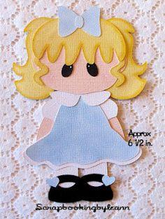 Girl Lt. Blue Dress Paper Piecing