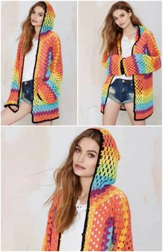Crochet Hoods Crochet Hooded Jacket Lots Of Free Patterns - You will love these Crochet Hooded Jacket Free Pattern Ideas and we have rounded up all the most popular for you to try. Check them out now. Crochet Hooded Scarf, Crochet Hoodie, Crochet Coat, Crochet Quilt, Crochet Clothes, Crochet 101, Crochet Scarves, Free Crochet Jacket Patterns, Crochet Cardigan Pattern