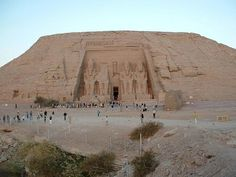 Did you know that the temples of Abu Simbel were moved due to the construction of Aswan High Dam. The temples were moved above the water, on a site located approximately 65 m abo