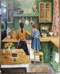 Carole's Chatter: Catherine Nolin – a new artist to me – thanks, Jama! New Artists, Quotations, Thankful, Cartoon, Painting, Painting Art, Paintings, Quotes, Cartoons