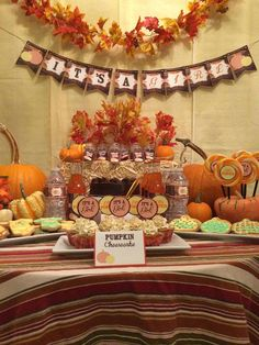 Fall Baby Shower Baby Shower Party Ideas | Photo 1 of 16 | Catch My Party
