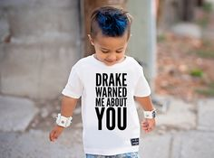 Drake Warned Me Kid's Graphic Tee - 3T / Charcoal Black / Yes