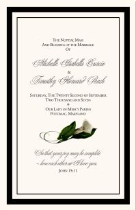 wedding programme cover