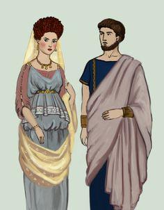 Rome - Flavian by Tadarida on DeviantArt Ancient Rome, Ancient Greece, Ancient History, Ancient Roman Clothing, Historical Clothing, Rome Fashion, Fashion History, Italian Renaissance Dress, Roman Dress
