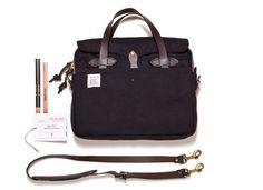 Filson + Apolis philanthropist briefcase.