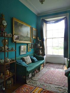 The double drawing room in a house on the Thames from Bible of British Taste