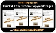 Create custom copywork & notebooking pages with The Notebooking Publisher from NotebookingPages.com.
