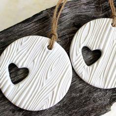 Beautiful handmade clay labels, I love it!