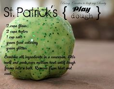 St. Patrick's Sparkly Play Dough.
