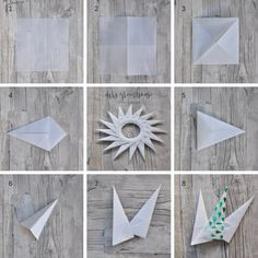 I'll give you a light – Christmas star fold from parchment - Crafts Diy Origami Diy, Origami Wreath, Origami Paper Folding, Paper Crafts Origami, Useful Origami, Origami Flowers, Christmas Origami, Christmas Star, Christmas Crafts