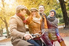 Stock Photo : Friends walking together in park