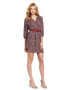 Bcbgeneration Women's 3/4 Sleeve Dress, Coconut Multi, Small