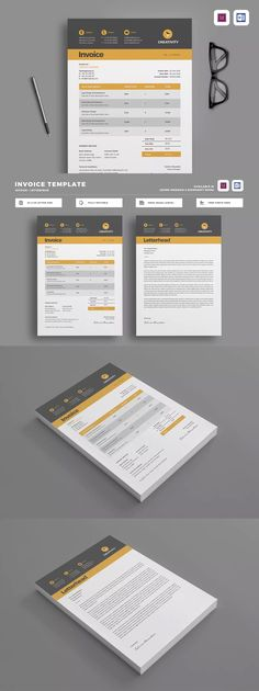 Design Invoice Template Indesign Indd A4 And Us Letter Size