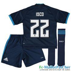 Nouveau Maillots Real Madrid Le bleu marine Enfant Isco 22 Third 15 2016 2017