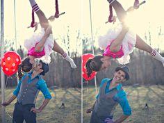 Themed Engagement Photos - Circus Engagement Photos | Wedding Planning, Ideas & Etiquette | Bridal Guide Magazine