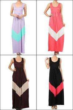 Presale Summer Chevron Maxi Dress Chevron by JustSewSouthern, $59.95