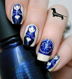 Russian Dolls Nail Stamping Plate from Nailz Craze
