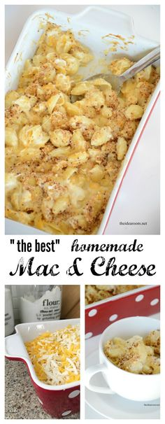 Looking for comfort food at its finest? Try our favorite Mac and Cheese Recipe.but super delicious. It will be your family's favorite too! (best mac and cheese recipe) Lunch Recipes, Great Recipes, Cooking Recipes, Favorite Recipes, I Love Food, Good Food, Yummy Food, Mac And Cheese Homemade, Mac And Chesse Recipe