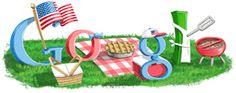 Google Doodle: Fourth of July 2009