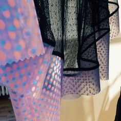 Mesmerized by this lenticular and lace top by @DanielleRomeril at the @BritishFashionCouncil's NewGen Pop-up shop