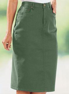 Bend Over® Colored Denim Skirt