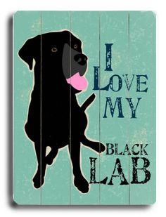 Love my black lab