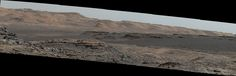 This image, captured by NASA%u2019s Mars rover Curiosity on Sept. 25, 2015, shows a dark sand dune in the middle distance.