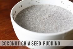 To say I have a minor obsession with chia seeds, is a bit of an understatement. I put them in everything: smoothies, fruit juice, oatmeal, y. Coconut Chia Seed Pudding, Cookie Dough Fudge, Chia Seeds, Mac And Cheese, Fun Desserts, Crafts To Make, Smoothies, Craft Making, Good Things