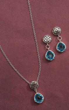 Montana Silversmiths River Lights Lattice Raindrops Jewelry Set | Cavender's