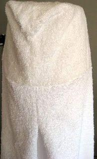 Como hacer una toalla con capucha para bebe