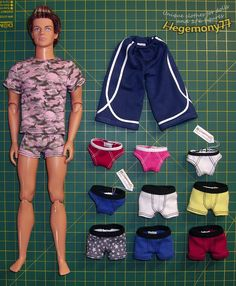 how to make shorts for ken doll - Google Search