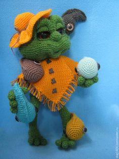 Купить МК по вязанию игрушки Лягушка - лягушка, лягушка игрушка, авторская игрушка, Вязание крючком