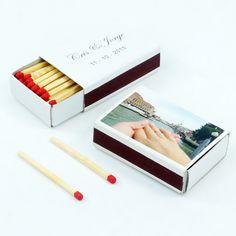 "Cajas de cerillas para bodas modelo ""Standard"". Boda de Cris & Jorge. Polaroid Film, Model, Match Boxes, Natural Wood, Weddings, Colors"