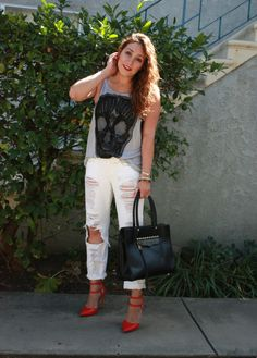 Distressed Denim - my fave! In This Fashion