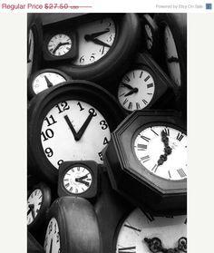B & W clocks