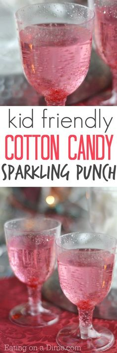 Place one piece of cotton candy in the glass & pour the ginger ale over it. Place a cherry in the glass and serve.Try this easy kid friendly cotton candy drink recipe. You only need 2 ingredients to make this yummy cotton candy drink recipe for kids. Ginger Ale Punch, Kid Drinks, Non Alcoholic Drinks, Beverages, Drinks Alcohol, Pink Punch Recipe Non Alcoholic, Summer Drinks Kids, Drink Recipes Nonalcoholic, Alcholic Drinks