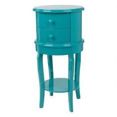 Rosie Accent Table -Teal Lacquer