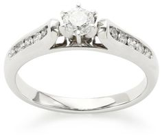 """Kobelli """"Je T'aime"""" Round Diamond Engagement Ring (1/2 cttw, H-I Color, I1-I2 Clarity), Size 6.5. All our diamond suppliers confirm that they comply with the Kimberley Process to ensure that their diamonds are conflict free. Domestic."""