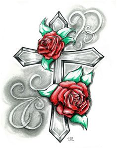 cross Tattoo | Rose Cross by ~elguapo6 on deviantART