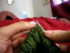 Norwegian Purl - makes me want to try continental knitting again... or figure out how to do it english style too.