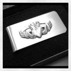 Irish Claddagh money clip....great gift for groomsmen!