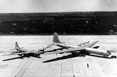 B-29 Superfortress & B-36 Peacemaker for comparison of size. Pinned via Plane-A-Day