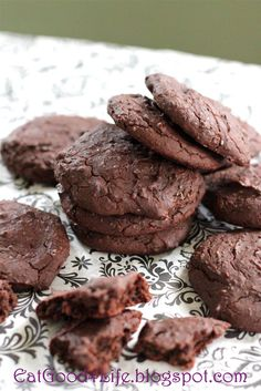 Black bean chocolate chip cookies. You will never think these cookies are made with black beans. They are gluten free and much healthier for you and 7 grams of protein per cookie. #glutenfree #cleaneating #healthy