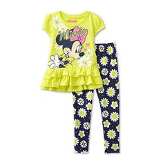 Disney Baby Minnie Mouse Infant & Toddler Girls' Tunic & Leggings - Floral