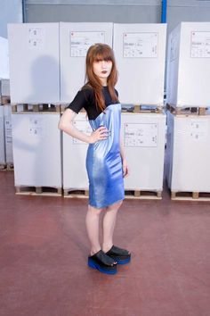 METALLIC BLUE DRESS #kissharder #kiss #harder #cool #hot #style #streestyle #fashion #black #blue #metallic #dress